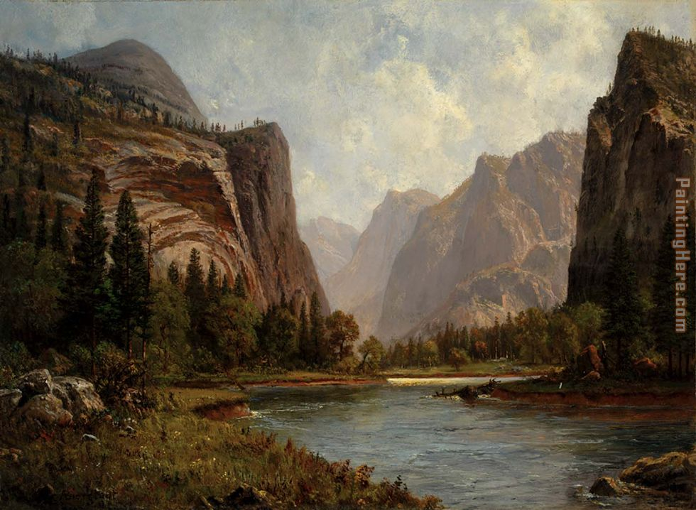 Gates of the Yosemite painting - Albert Bierstadt Gates of the Yosemite art painting