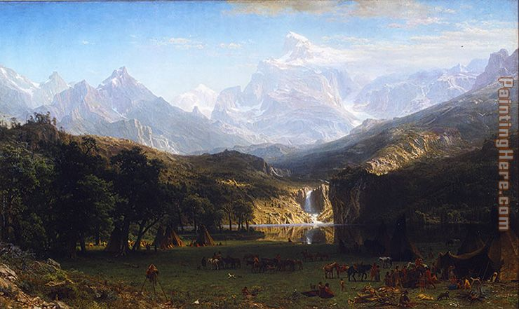 The Rocky Mountains, Landers Peak painting - Albert Bierstadt The Rocky Mountains, Landers Peak art painting