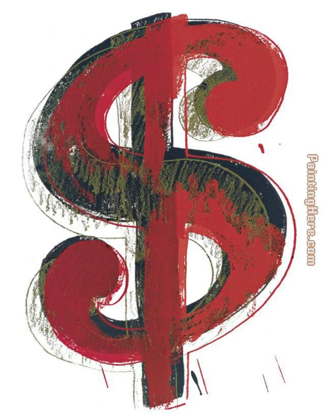 Andy Warhol Dollar Sign 1981 Art Painting