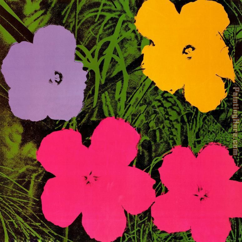Andy Warhol Flowers 1970 Art Painting