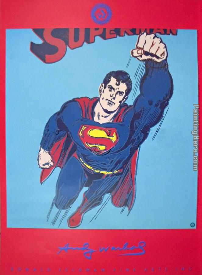 Andy Warhol Superman Art Painting