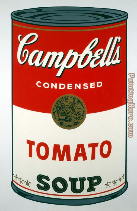 Andy Warhol Tomato Soup Art Painting