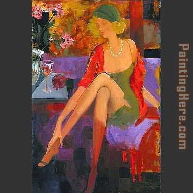 romantic afternoon painting - Avtandil romantic afternoon art painting