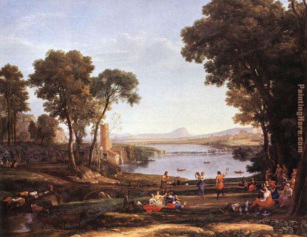 Landscape with Dancing Figures painting - Claude Lorrain Landscape with Dancing Figures art painting