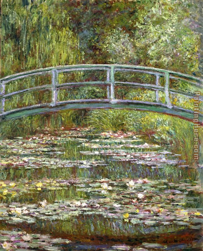 Claude Monet Bridge over a Pool of Water Lilies Art Painting