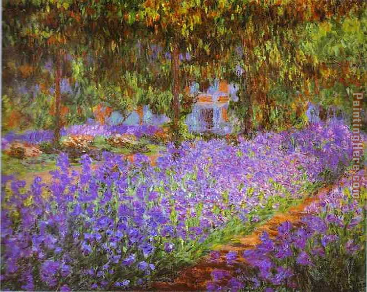 Irises in Monet's Garden painting - Claude Monet Irises in Monet's Garden art painting