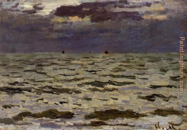 Seascape painting - Claude Monet Seascape art painting
