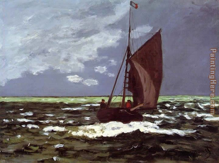 Stormy Seascape painting - Claude Monet Stormy Seascape art painting