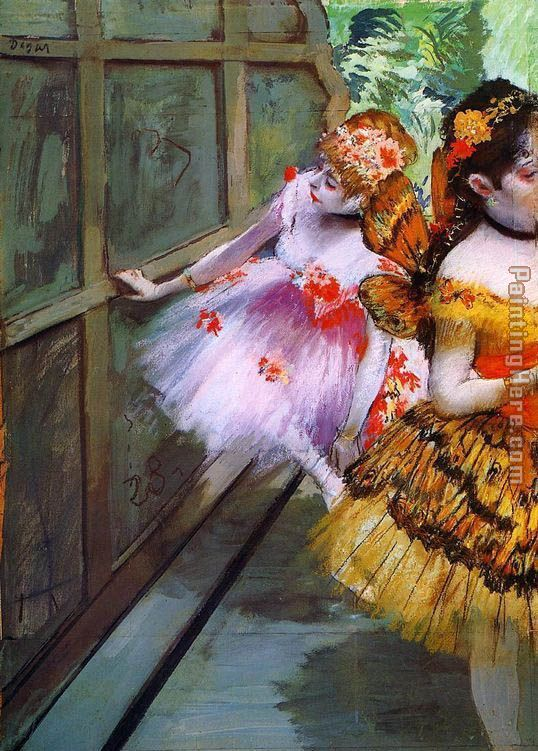Edgar Degas Ballet Dancers in Butterfly Costumes detail Art Painting
