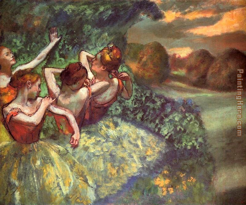 Edgar Degas Four Dancers Art Painting