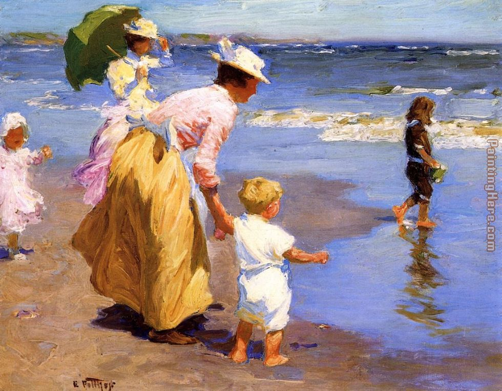 At the Beach painting - Edward Henry Potthast At the Beach art painting