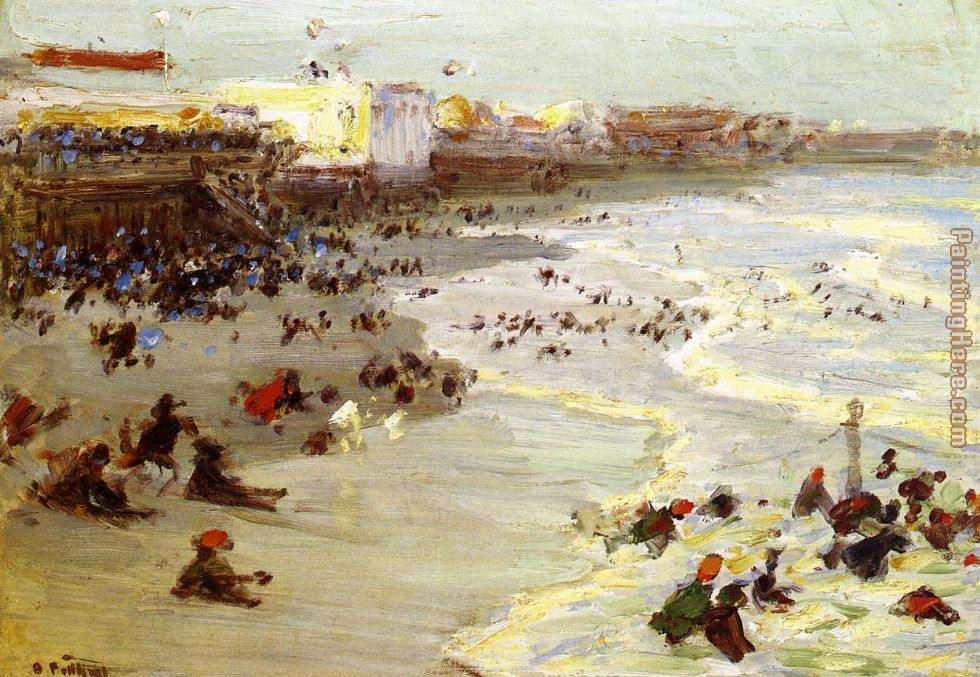 Coney Island painting - Edward Henry Potthast Coney Island art painting