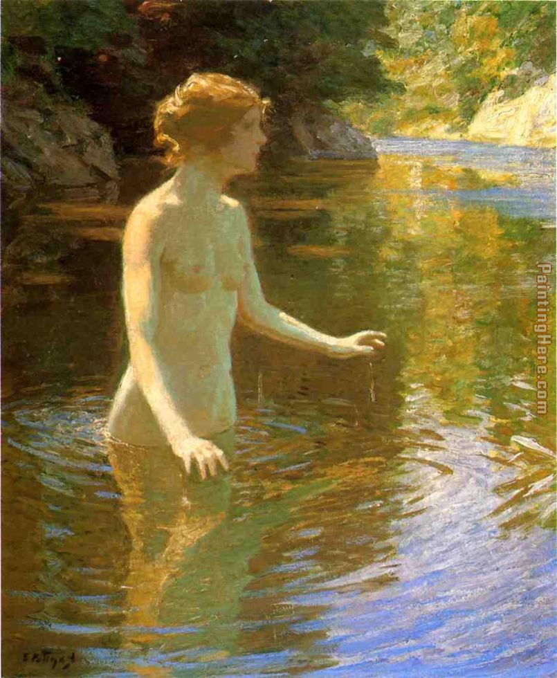 Enchanted Pool painting - Edward Henry Potthast Enchanted Pool art painting