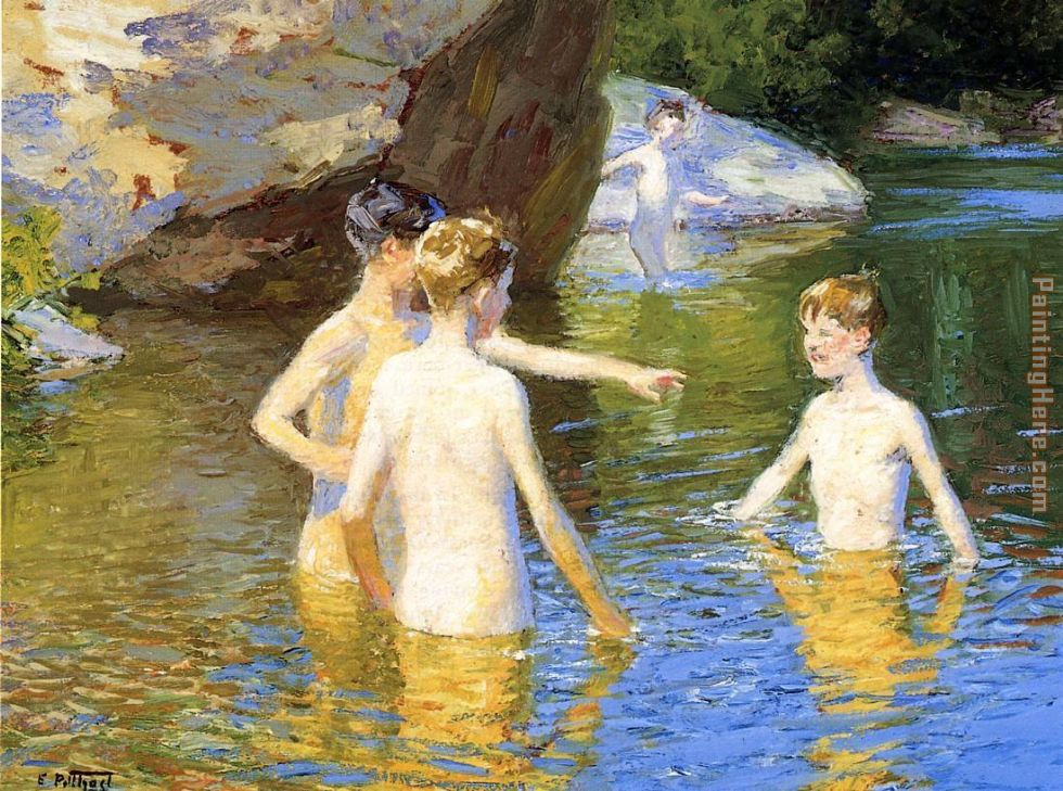 Edward Henry Potthast In the Summertime Art Painting