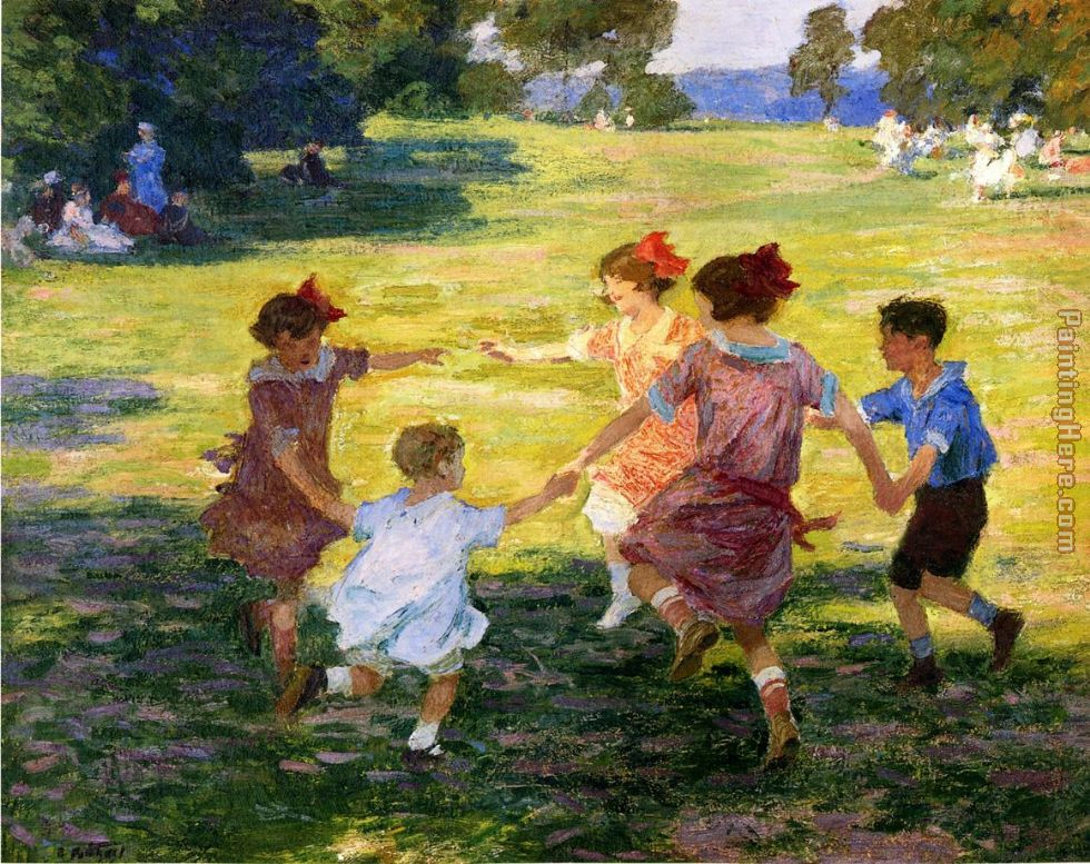 Edward Henry Potthast Ring Around the Rosie Art Painting