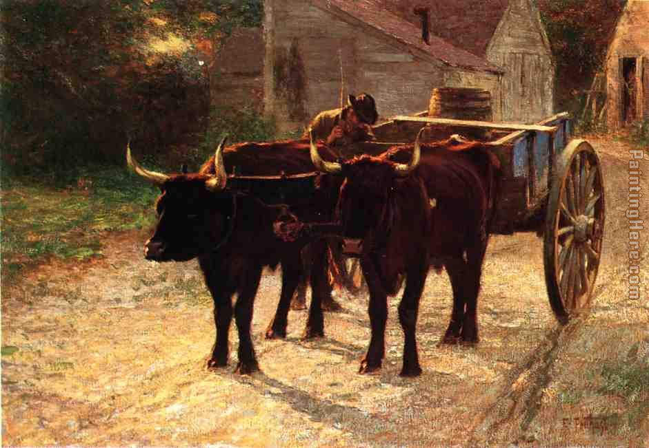 Edward Henry Potthast The Ox Cart Art Painting