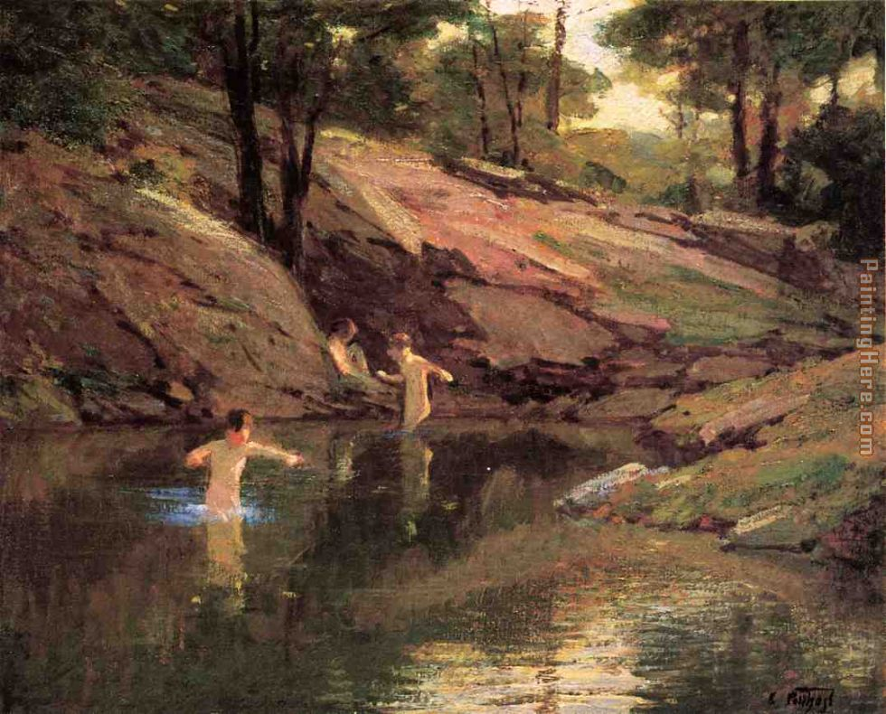The Swimming Hole painting - Edward Henry Potthast The Swimming Hole art painting