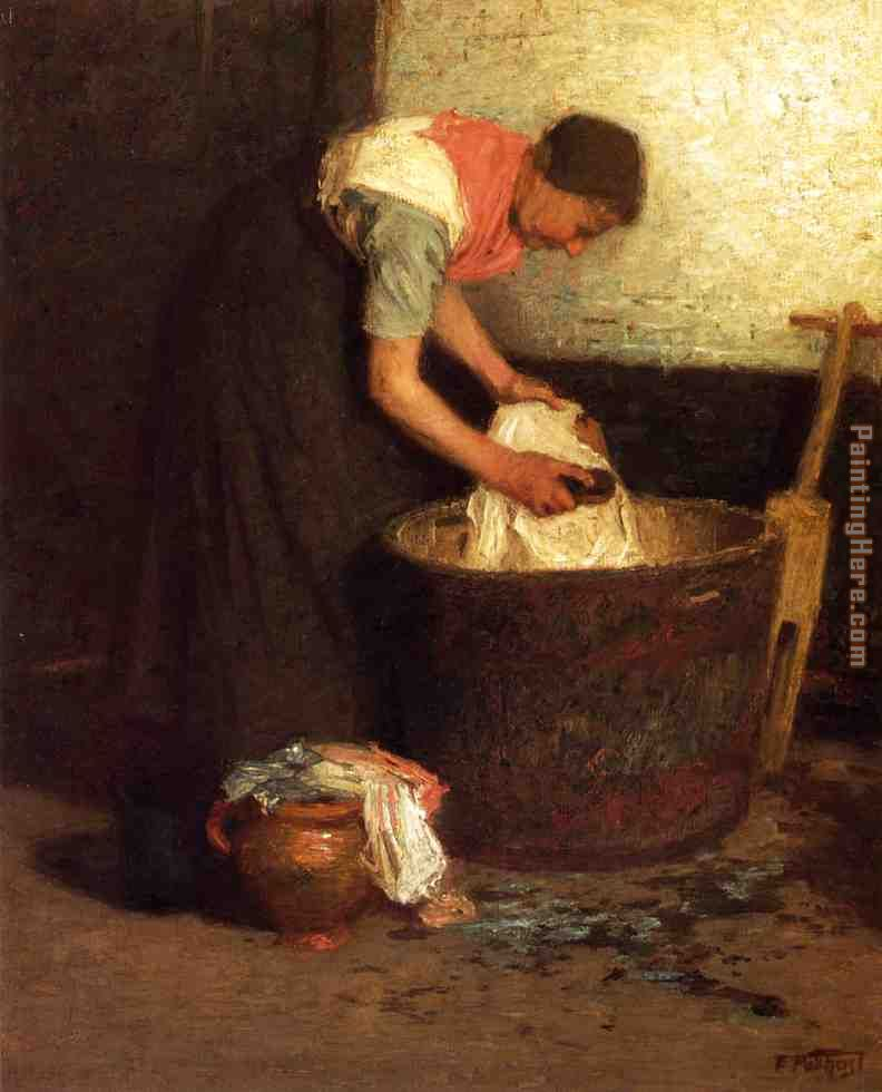 Edward Henry Potthast The Washerwoman Art Painting