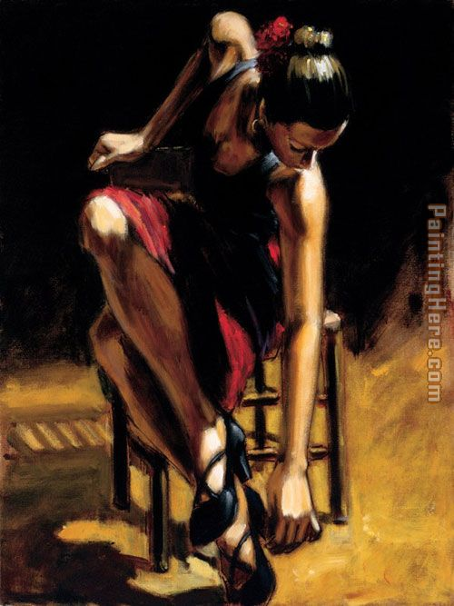 Dancerin Red Skirt painting - Fabian Perez Dancerin Red Skirt art painting