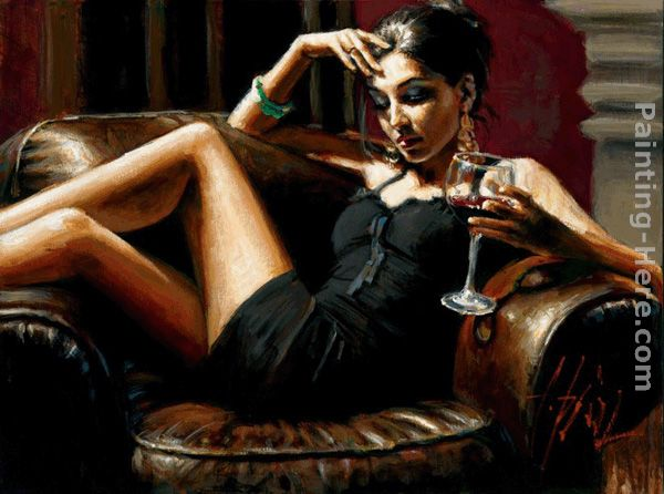 Red on Red III painting - Fabian Perez Red on Red III art painting