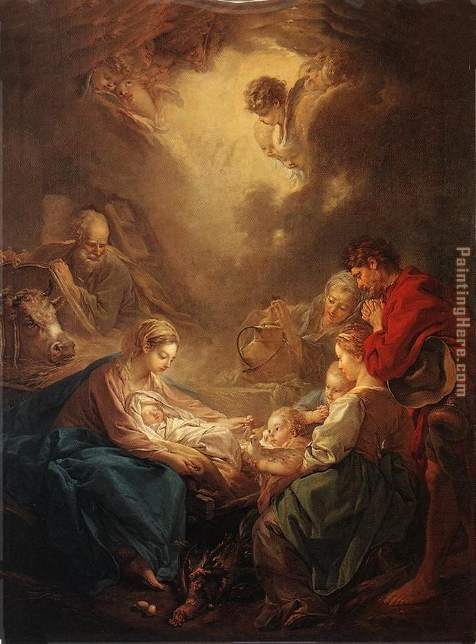 Adoration of the Shepherds painting - Francois Boucher Adoration of the Shepherds art painting