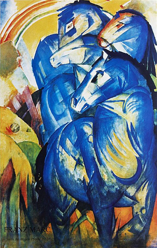 Group of Horses painting - Franz Marc Group of Horses art painting