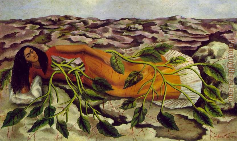 Roots painting - Frida Kahlo Roots art painting
