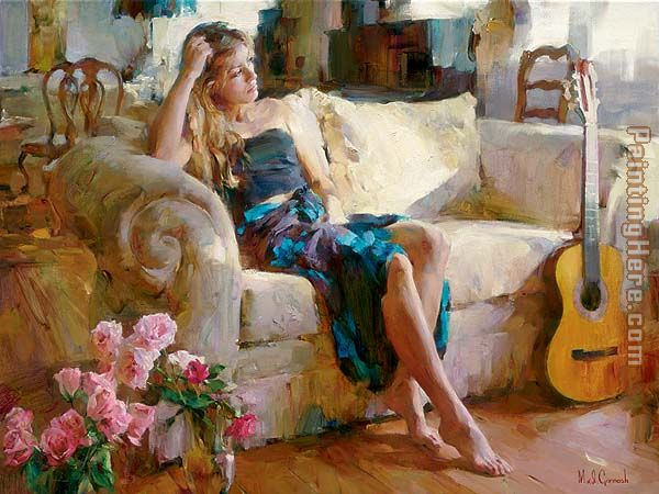 Music in the Afternoon painting - Garmash Music in the Afternoon art painting