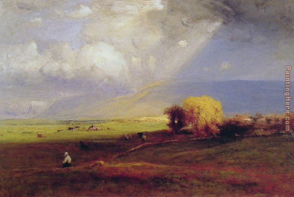 Passing Clouds painting - George Inness Passing Clouds art painting