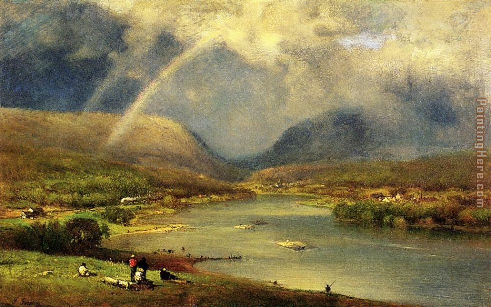 The Delaware Water Gap painting - George Inness The Delaware Water Gap art painting