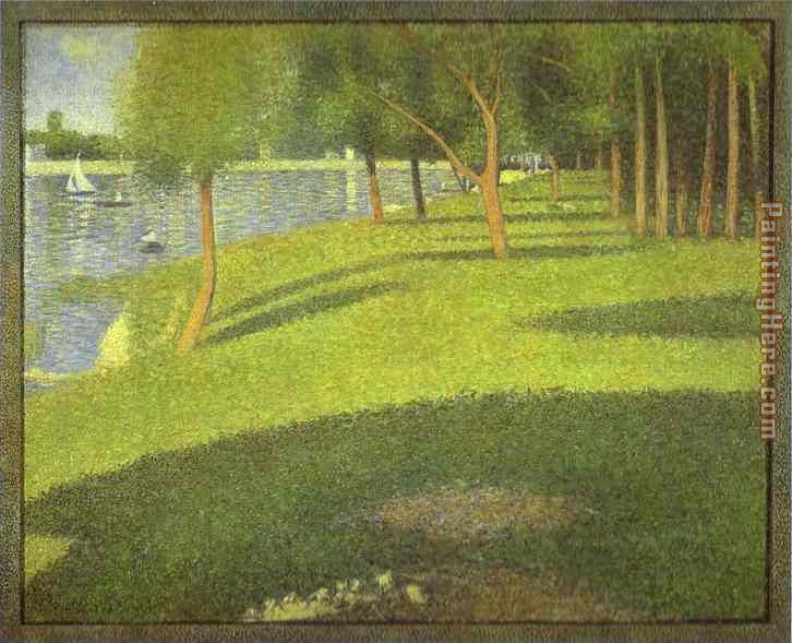 The Island of La Grande Jatte painting - Georges Seurat The Island of La Grande Jatte art painting