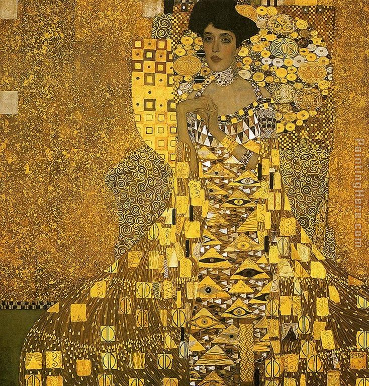 Portrait of Adele Bloch (gold foil) painting - Gustav Klimt Portrait of Adele Bloch (gold foil) art painting