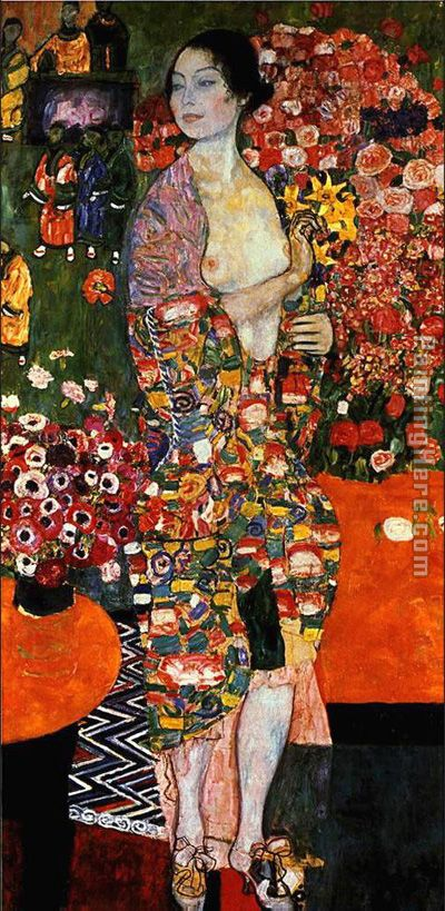 Gustav Klimt The Dancer Art Painting