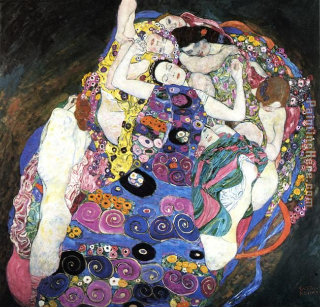 Gustav Klimt The Virgin Art Painting