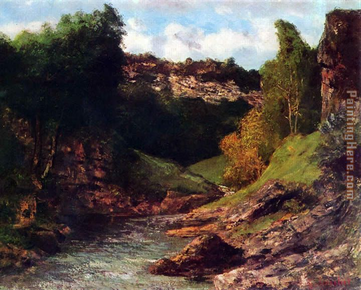 Gustave Courbet Rocky Landscape Art Painting