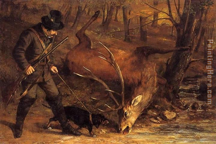 Gustave Courbet The hunt Art Painting