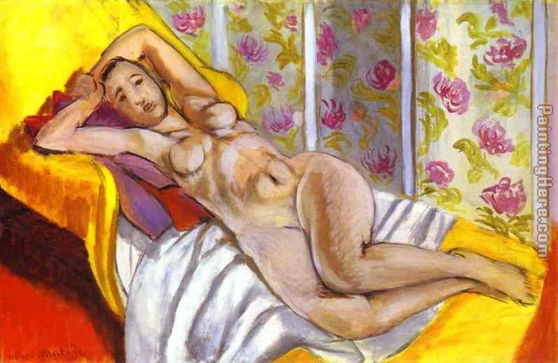 Lying Nude painting - Henri Matisse Lying Nude art painting