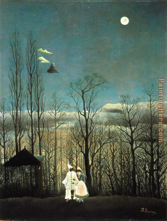 Carnival Evening painting - Henri Rousseau Carnival Evening art painting