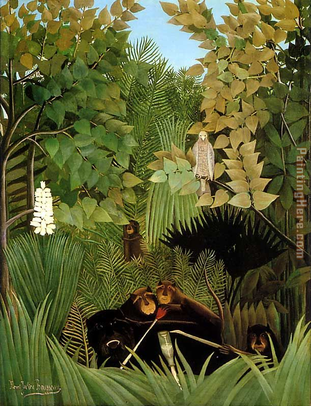 Henri Rousseau The Merry Jesters Art Painting