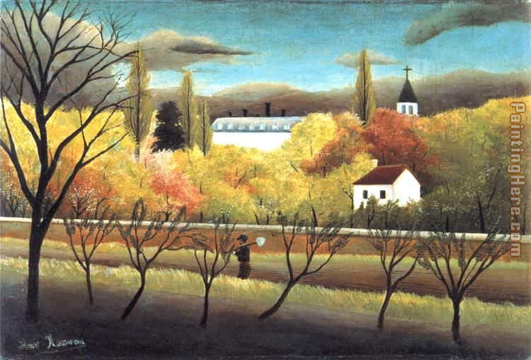 Henri Rousseau The Orchard Art Painting