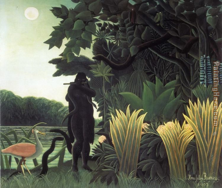 The Snake Charmer painting - Henri Rousseau The Snake Charmer art painting