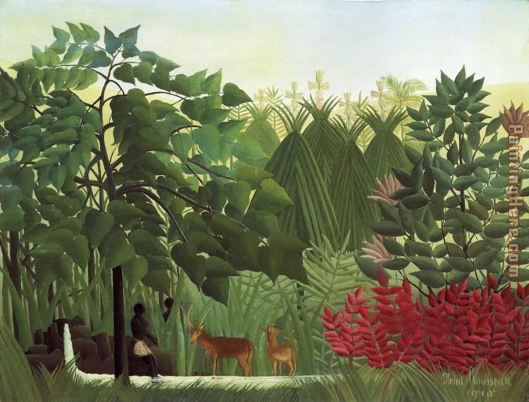 The Waterfall painting - Henri Rousseau The Waterfall art painting