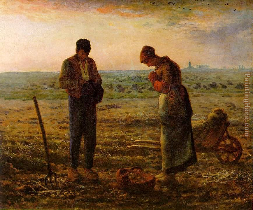 Jean Francois Millet The Angelus Art Painting