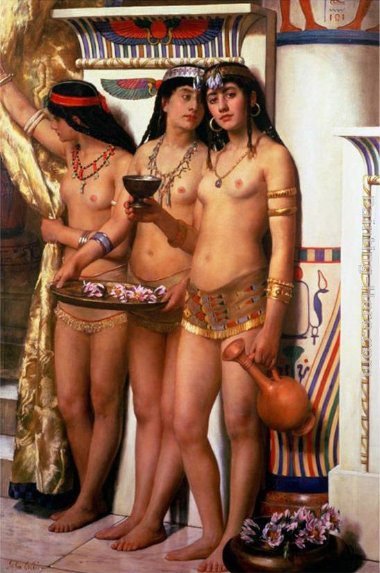 John Collier Pharaoh's Handmaidens Art Painting