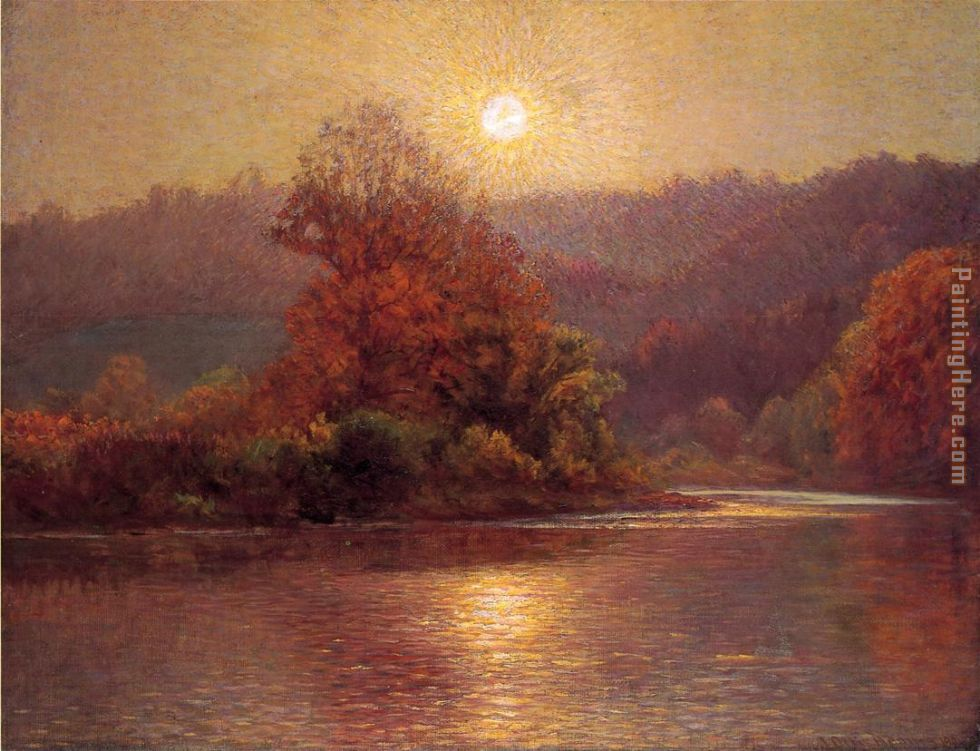 John Ottis Adams The Closing of an Autumn Day Art Painting