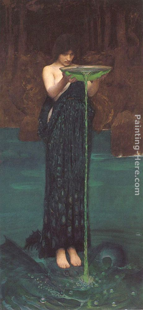 Circe Invidiosa painting - John William Waterhouse Circe Invidiosa art painting