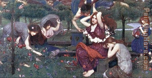 John William Waterhouse Flora and the Zephyrs Art Painting