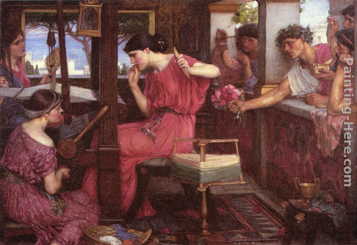 John William Waterhouse Penelope and the Suitors Art Painting
