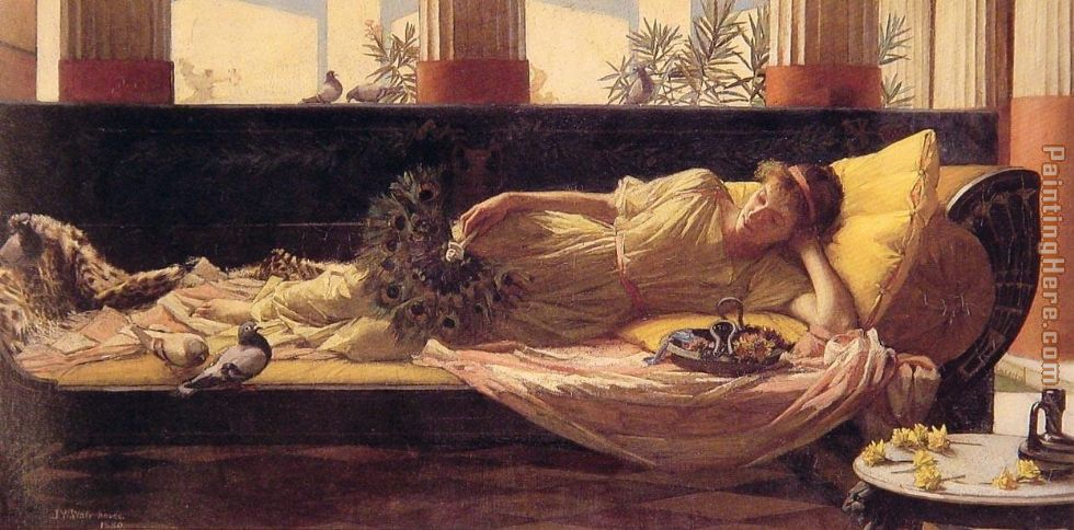 John William Waterhouse Sweet Nothings Art Painting