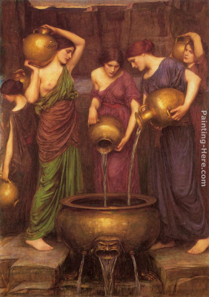 The Danaides painting - John William Waterhouse The Danaides art painting
